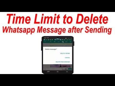 Till what Time we can Delete Whatsapp Message after Sending ?