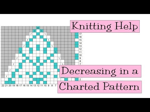 Knitting Help - Decreasing in a Charted Pattern