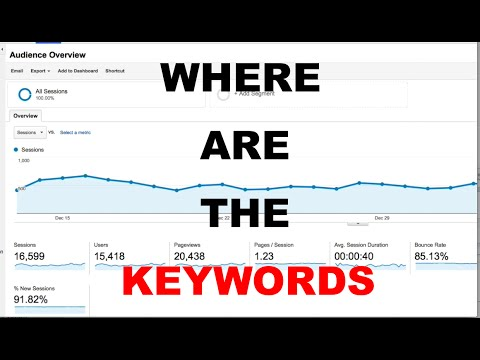 Google Analytics Keywords Not Showing  | Where to Find Keywords in Google Analytics New Update