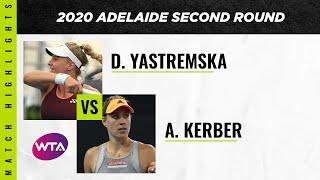 Dayana Yastremska vs. Angelique Kerber   2020 Adelaide International Second Round   WTA Highlig