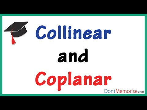 What are Collinear and Coplanar Points? ( GMAT / GRE / CAT / Bank PO / SSC CGL)