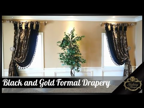 Black And Gold For A Powerful And Prosperous Formal Dining Room | Galaxy Design Video #178