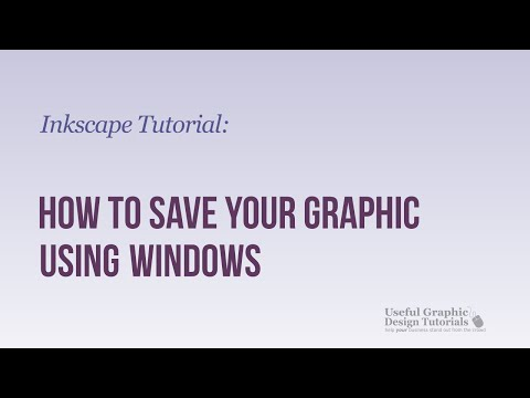 Saving your created Graphic in Inkscape on Windows - Inkscape Tutorial -- Video 8