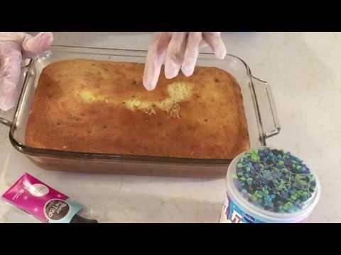 Make & Bake A Funfetti Birthday cake From A Box Purple Frosting/ Dare To Stay Awake~ASMR