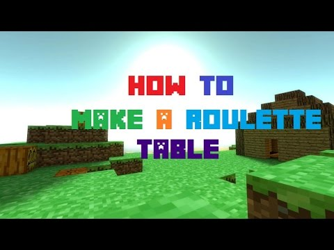 Minecraft Pocket Edition Tutorial Roulette Table