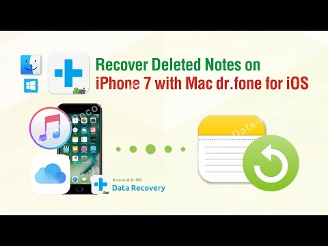 How to Recover Deleted Notes on iPhone 7 with Mac dr.fone iOS Data Recovery