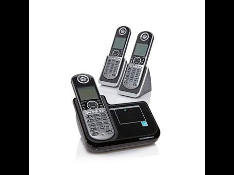 Motorola DECT 3pk Cordless Phones with Answering