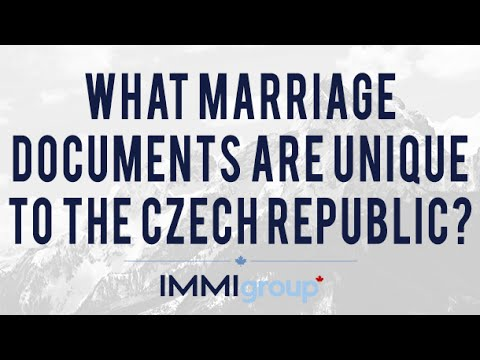 What marriage documents are unique to the Czech Republic?
