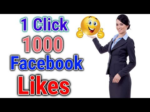 How to increase facebook likes || 1 minute 1000 likes facebook photos || auto liker 100% Free !