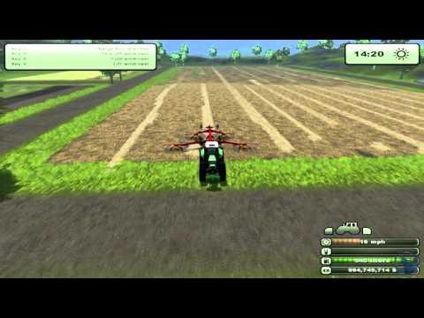 Farming Simulator 2013: How to farm. Baling Straw (Tutorial. 4/9)