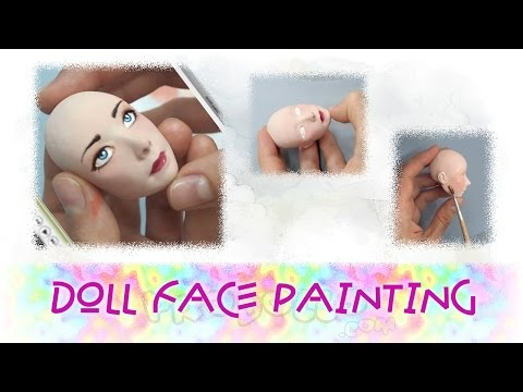 How to make doll. Doll face make up. Part 3.