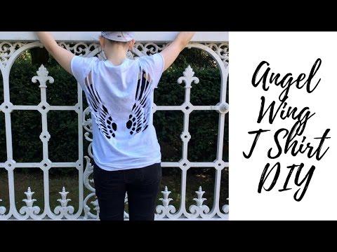 Angel Wing T shirt DIY   Tumblr & Pinterest Inspired