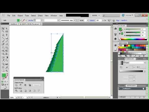 Adobe Illustrator CS5 Tutorial 30   Christmas Tree   YouTube
