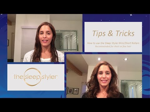 Sleep Styler Short Rollers How-To