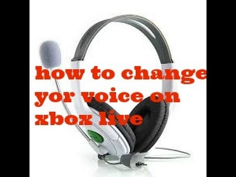 How to change your voice on Xbox live (easy)