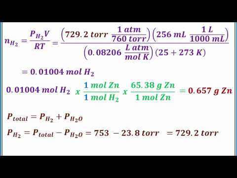CHEMISTRY 101 - Dalton's Law of Partial Pressures and mole fraction