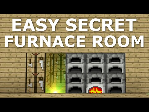 Easy Secret Furnace Room - Minecraft Building Tips