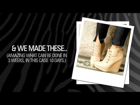 Be the designer - Create your own fashion shoes and handbags