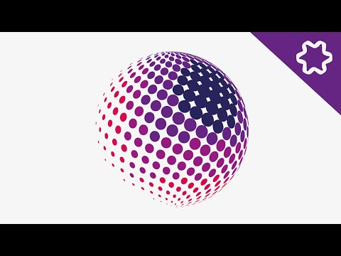 Halftone Effect Logo Design Tutorial / How to design Circle Dot in Adobe illustrator / Circle logo