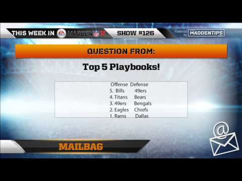 Madden 15 - Top 5 Offense and Defensive Playbooks