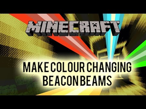 How To Make Automatic Colour Changing Beacon - Redstone Tutorial Flashing Multicoloured Beacons