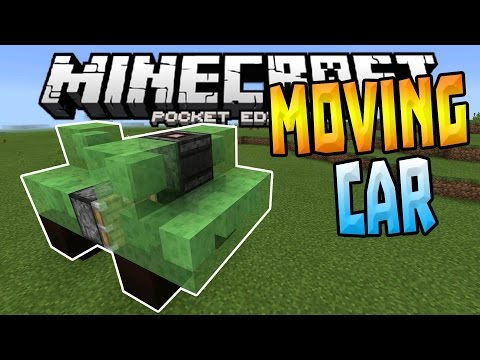 ✔HOW TO MAKE A MOVING CAR IN MCPE 0.15.0!!!!!!!