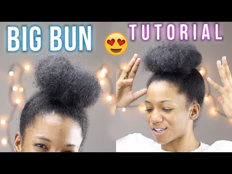 How to: Make Your Bun/Puff Bigger with Short Thick Natural Hair (2018) | Annesha Adams