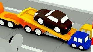 Çizgi Film - Dört araba suçlu siyah arabayı çekiciye yükledi
