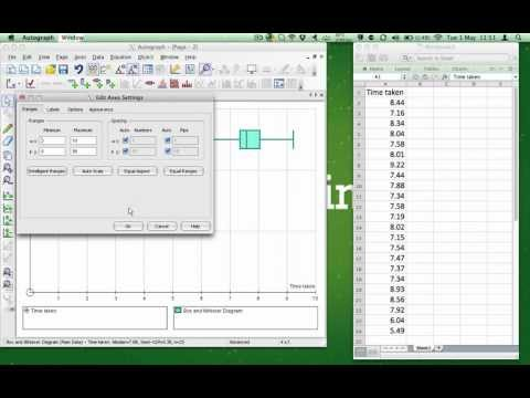 How to use Autograph to create a Box and Whisker Diagram for Raw Data