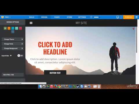 How to Build Your Landing Page (Home Page) With Weebly