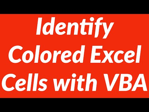 Identify colored cells in Excel worksheet and perform actions with VBA