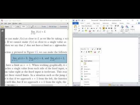 InftyReader: Automatically render a PDF IMAGE of Math as a Word Equation!