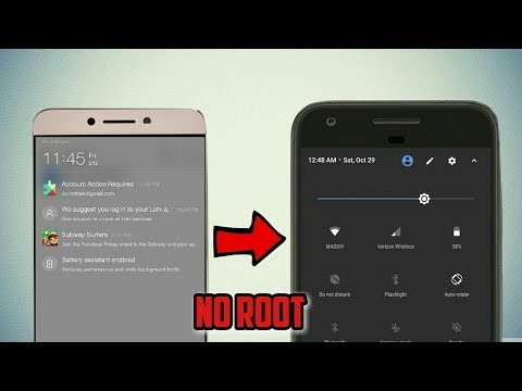 How to change notification panel in any android device | Change notification bar without root