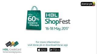 Get up to 60% OFF in our HBL ShopFest on Daraz!