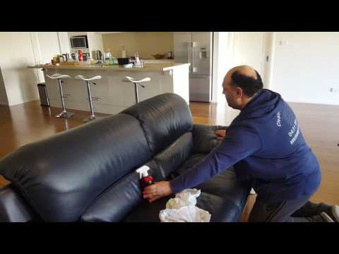 cleaning leather couch