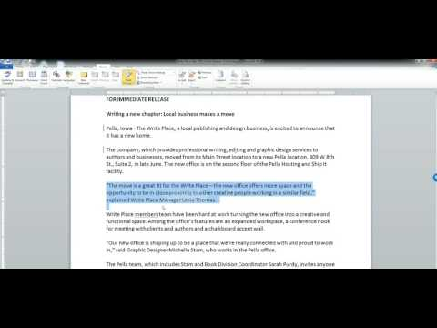 Tips and Tools: How to Use Microsoft Word Track Changes