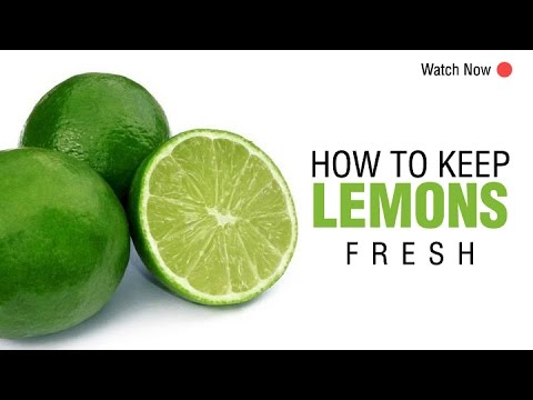 How to Keep Lemons Fresh for a Long Time | Easy and Useful Kitchen Tip | WOW Recipes