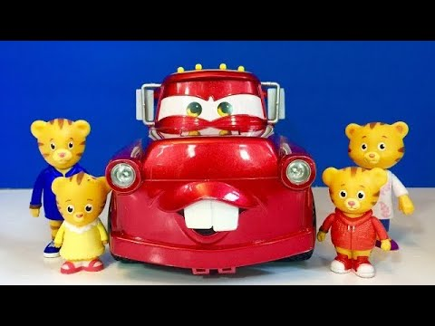 Red MATER FIRETRUCK with Daniel Tiger TOYS!!