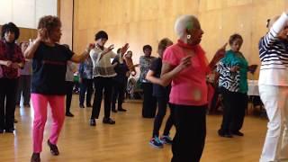 Seniors dancing to Uptown  Funk