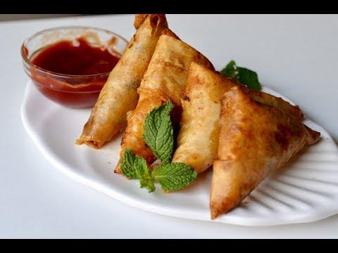 चिकन समोसा बनाए पंद्रह मिनिट में | Chicken Cheese Samosa Recipe in Hindi | Quick Snack Recipe