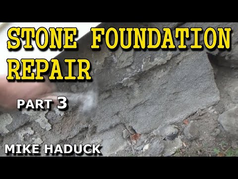 Stone foundation repair (outside) part 3 of 6 (Mike Haduck)