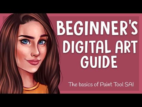 BEGINNER'S DIGITAL ART GUIDE #1 | Paint Tool SAI - Basic Tools | Jenna Drawing