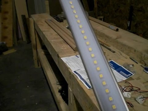 Converting 4-foot fluorescent light fixtures to LED.