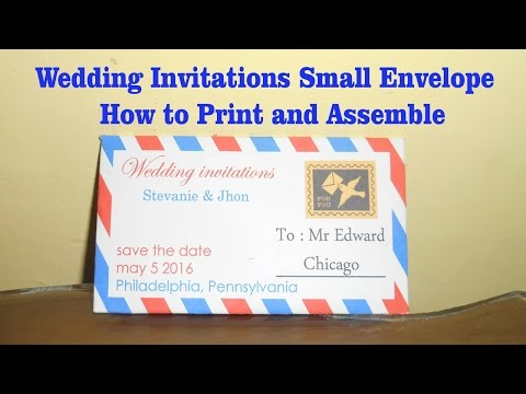 Wedding Invitations Small Envelope - How to Print and Assemble