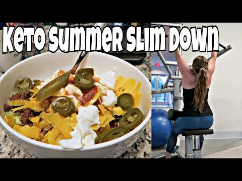 Keto Summer Slim Down Day 2 | Full Day of Eating, Taco Salad, & Upper Body Workout!