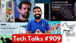 Tech Talks #909 - OnePlus 7T Pro, Apple Tile, Chandrayaan 2, Twitter Hacked, A90 5G, K20 Pro Android