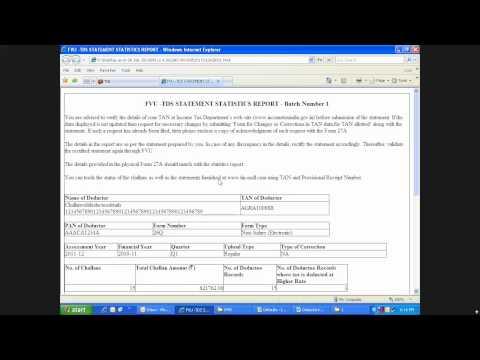 How to prepare & file E tds return step 3