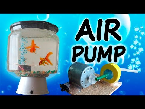How to Make a Mini Air Pump  (Home aquarium)