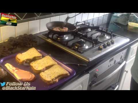 English Bacon and Egg Sandwich