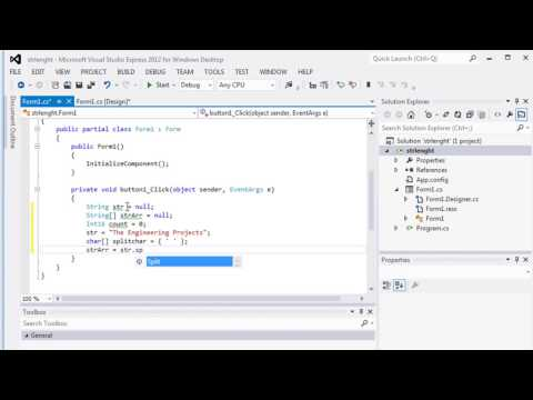 081 - How to use C# string Split